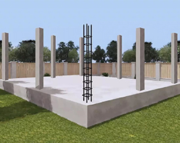 фундамент с колоннами